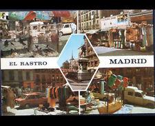 """MADRID (ESPAGNE) RENAULT 4L au Marché & COMMERCES animés """"EL RASTRO"""" en 1978"""