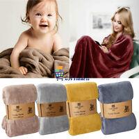 Soft Warm Fleece Cuddly Teddy Throw Sofa Bed Camping Floor Blanket Fine Quality
