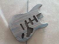 Unfinished zebra wood electric guitar body Excellent parts