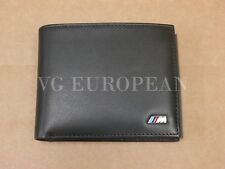 BMW Genuine M Power Black Leather Bi Fold Wallet
