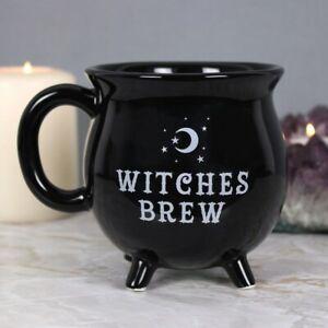 Brand New  WITCHES BREW CAULDRON MUG  Pagan Witch Gothic Witchcraft Vamp