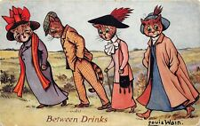 More details for postcard cats - louis wain - taking the harrogate waters - between drinks - tuck