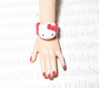 JEWELRY ~ BARBIE DOLL MODEL MUSE RED WHITE HELLO KITTY CUFF BRACELET ACCESSORY