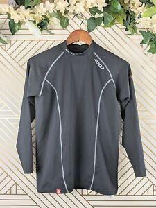 2XU Men's Long Sleeve power Compression Top Black Size Medium