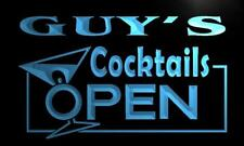 x0253-tm Guy's Cocktails Open Bar Custom Personalized Name Neon Sign
