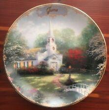 "Thomas Kinkade - 5.75"" Collector Plate - ""June - Hometown Chapel"""