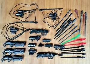 USED STAR WARS CLONE TROOPER BLASTERS & ACCESSORIES SET OF 35 MINT CONDITION