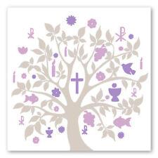 20 Servietten Baum Symbole taupe lila Kommunion Taufe Konfirmation