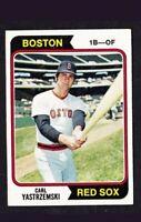 1974 TOPPS BASEBALL CARD #280 CARL YASTRZEMSKI BOSTON RED SOX HOF