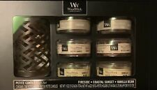 NEW! WoodWick 7PC Candle Set 3 Scents