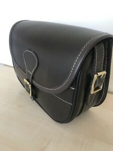 New Leather Cartridge Bag With Beautiful Design Attached Brass Buckles (039)..