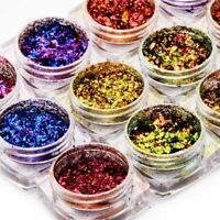 Nail Glitter Sequins Aluminum Irregular Flakes Nail Art Chameleon Foil Decor DIY