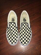 vans black & white checkered womans size 10 mens size 8.5