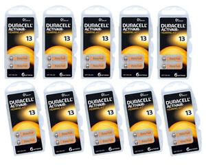 Duracell 13 / PR48 Hearing Aid Batteries Orange Tab 0% Mercury 1.45v Battery