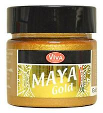 MAYA GOLD Farbe  Metallic-Effektfarbe VIVA DECOR 45 ml GOLD 902