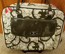 Franklin Covey Telescoping Rolling Suitcase Computer Business Carry On Bag