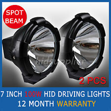 100W PAIR 7INCH HID XENON DRIVING LIGHTS SPOTLIGHTS 12V OFFROAD SPOT PENCIL 4WD