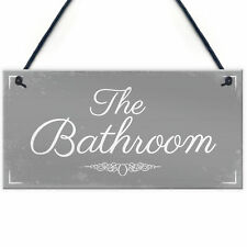 'THE BATHROOM' Shabby Chic Door Sign Plaque Sign for Toilet or Bathroom The Loo