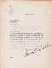 Bernarr Macfadden - American Bodybuilder - Signed Letter (TLS), 1943