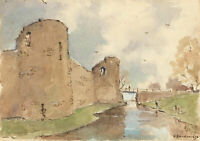 R. Buckeridge - A Pair of 20th Century Watercolours, Pevensey Castle, Boulogne