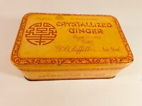 Vintage Crystallized 16 Ounce Ginger Tin, Empty - FREE SHIPPING