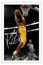 KOBE BRYANT LA LAKERS  SIGNED PHOTO PRINT BASKETBALL AUTOGRAPH