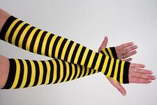 1 Paar Bienen-Armstulpen / Biene, Imme, Hummel, Wespe / Arm-Stulpen / Karneval