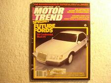 Motor Trend 1982 June Chrysler Nissan Honda VW Audi Toyota 1957 Testa Rossa