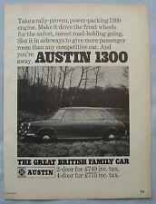 1968 Austin 1300 Original advert No.1