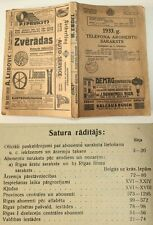 Extremely rare vintage LATVIAN 1933 TELEPHONE ADDRESS DIRECTORY - Latvia 1933