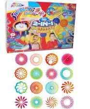 MEGA SPIROGRAPH SPIRA GRAPH SWIRLING ART SET DESKTOP SPINNER PAINT & PENS 160494