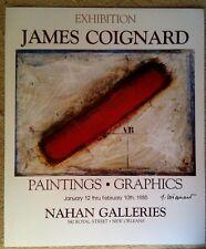 JAMES COIGNARD, Original Poster, 1985 Exhibition New Orleans, Signed