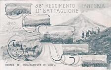 * MILITARE - 58° Regg.Fanteria II Battaglione - Distaccamento di Sicilia