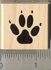 Dog Paw Print Rubber Stamp D3904 WM
