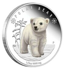 2017 Polar Babies Polar Bear Tuvalu 1/2 oz Silver Proof 50c Half Dollar Coin