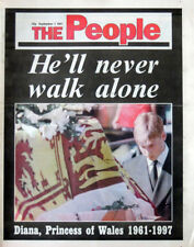SUNDAY PEOPLE NEWSPAPER 7 SEPT 1997 PRINCESS DIANA LADY DI DEATH ROYAL TRIBUTE