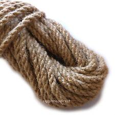 6mm 100/% naturel pure jute corde 3 brins tressée torsadée corde ficelle écharpe