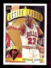 1995-96 Topps Active Steals Leader #4 Michael Jordan (F)