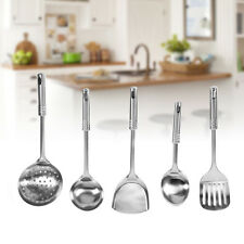 5 Piece Stainless Steel Kitchen Utensil Set Serving Spoons Spatula Cooking Tools