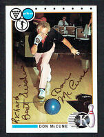 Don McCune #93 signed autograph auto 1990 Kingpins PBA Bowling Trading Card