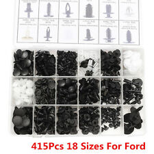 415 Pcs 18 Sizes Interior Door Trim Panel Retainers Clips Fastener Kit for Ford