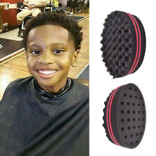 Pro Double Sided Twists Barber Hair Sponge Foam Brush For Afro Coils Curls Hot