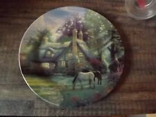 Thomas Kinkade A Perfect Summer Day Plate Maud Borup Horses Cottage