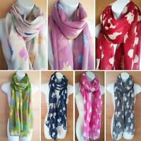 Rabbit Print Scarf Bunny Peter Ladies Womens Long Soft Festive Animal Scarves