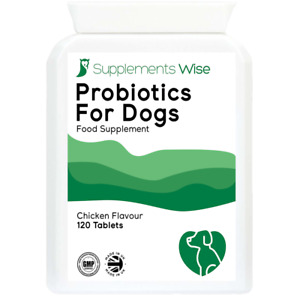 Probiotics For Dogs With Itchy Skin, Diarrhea, IBS 120 Chicken Flavour Tablets