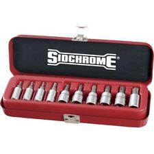 NEW Sidchrome 10pce 1/4 & 3/8″ Drive Socket Set – Tru-Torque (TORX) - SCMT19107