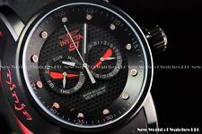 NEW Invicta Men's 48mm S1 Rally Ninja Yakuza Red & Black Silicone Strap Watch