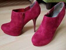 sexy rote Melrose Ankle Boots Stiefelette Pumps High Heels Gr. 39