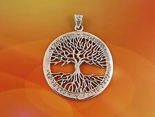Sterling Silver Celtic Tree of Life Pendant Theban Script Wiccan Pagan