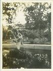 Japan Army old photo Imperial 1942 Pacific War Military Soldier garden fountain